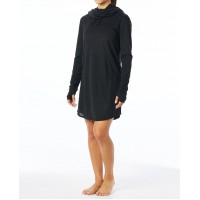 Solid Zoe Hooded Dress