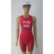 Female competitor trisuit w/pad ROMANIA