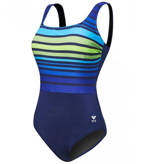 Costum Ombre Stripe Aqua Controlfit